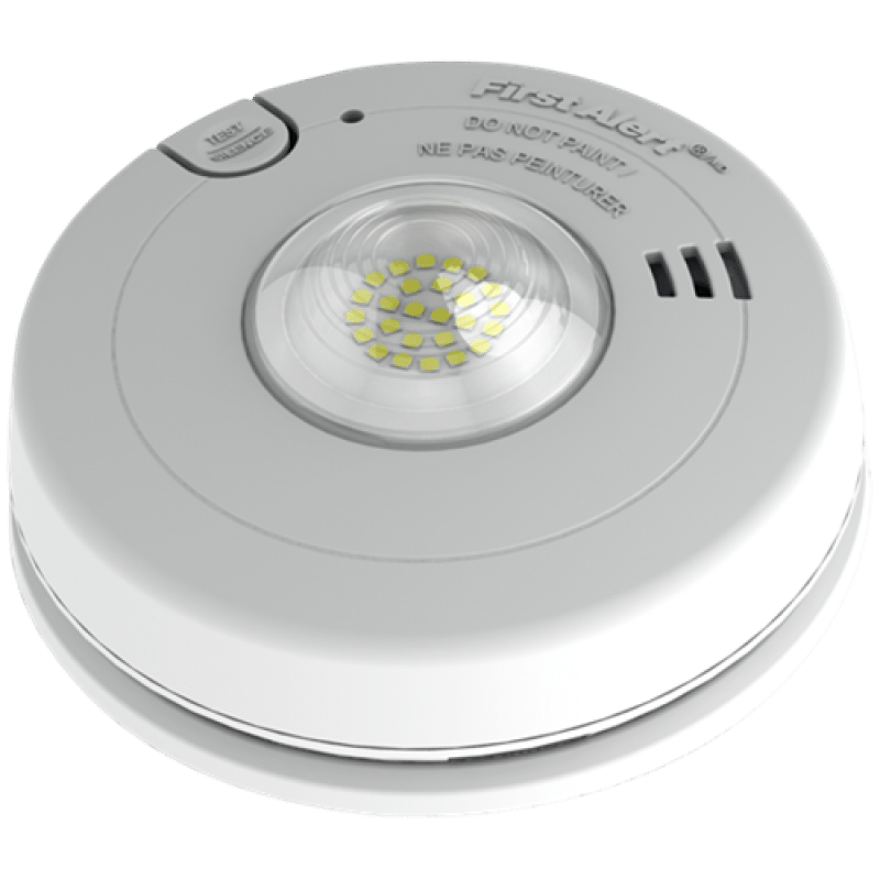 First Alert Hearing Impaired Smoke Detector Hardwired with LED ...