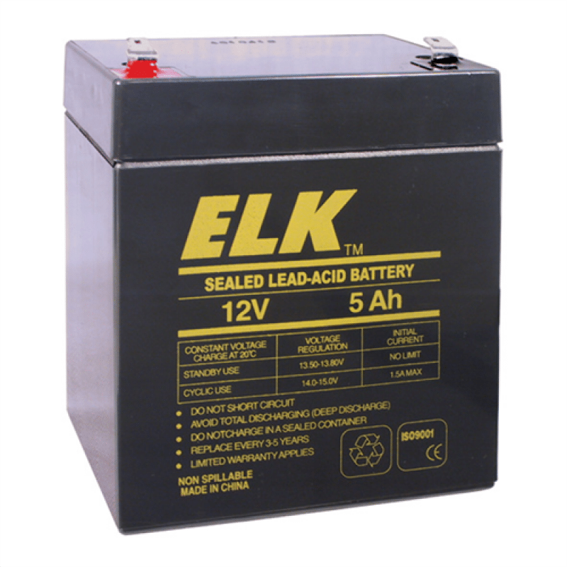 12v 5ah Battery >> Elk Rechargeable Sealed Lead Acid Battery 12v 5ah For Ups Alarm Emergency Lights